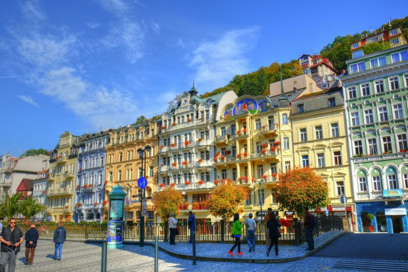 Karlovy Vary. Mooie stad in West-Bohemen